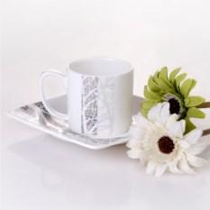 Набор из 6 кофейных пар Каррэ
