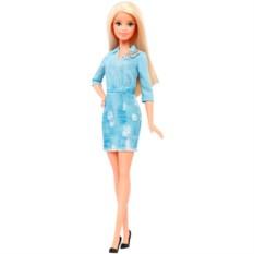 Кукла Mattel Barbie в джинсовом платье Игра с модой