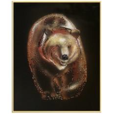 Картина с кристаллами Swarovski Бурый медведь