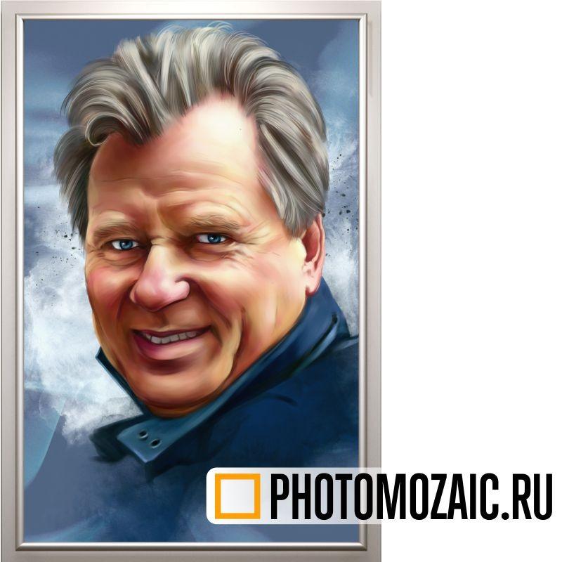 Дизайнерский портрет в подарок мужчине