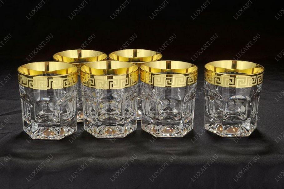 Хрустальный набор бокалов для виски из 6 штук