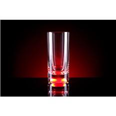 Бокал (Longdrink), загорающийся от прикосновения руки, красный
