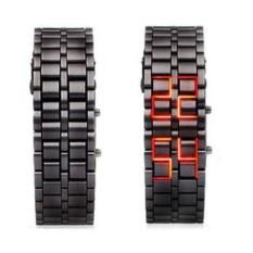 Диодные LED часы-браслет Самурай, черные/красные