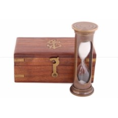 Песочные часы в деревянном футляре (цвет - антик)