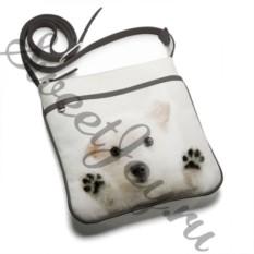 Кожаная сумка-планшет White Dog