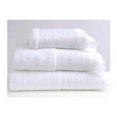 Белое банное полотенце