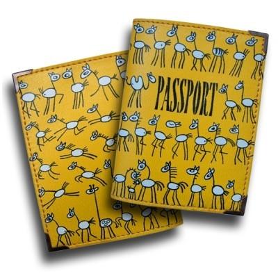Обложка для паспорта «Лошадки»