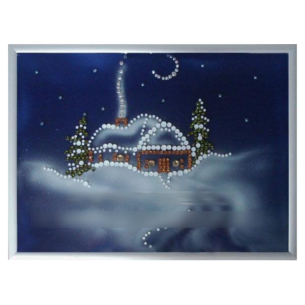 Картина из кристаллов «Зима»