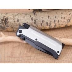 Складной нож с фонариком и огнивом Ster