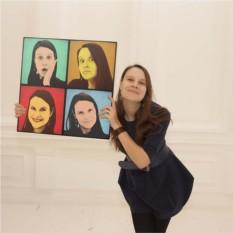 Pop-art портрет по фото для любимой