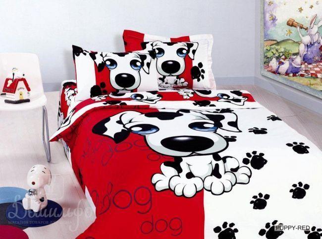 Детское постельное белье Puppy Red