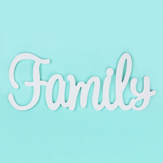 Слова для интерьера Family