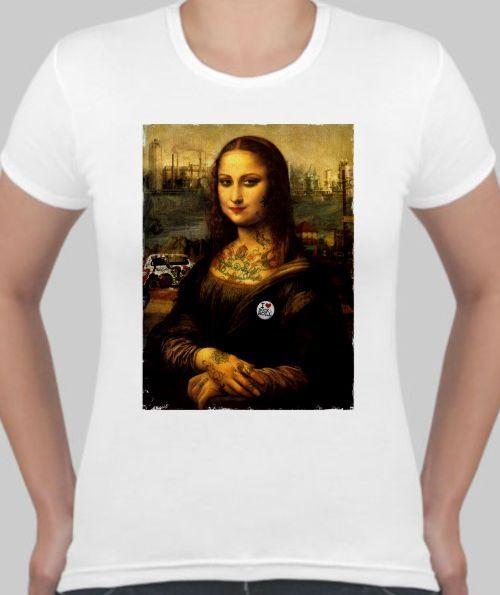 Женская футболка Мона Лиза