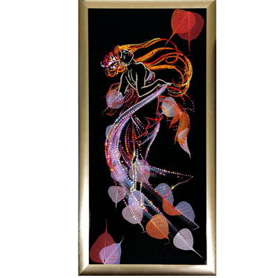 Картина с кристаллами Swarovski «Осенний вальс»