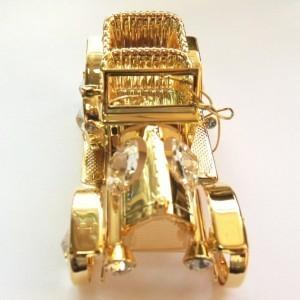 Сувенир с позолотой и кристаллами Сваровски Машинка
