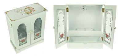 Шкатулка для ювелирных украшений в виде белого шкафа
