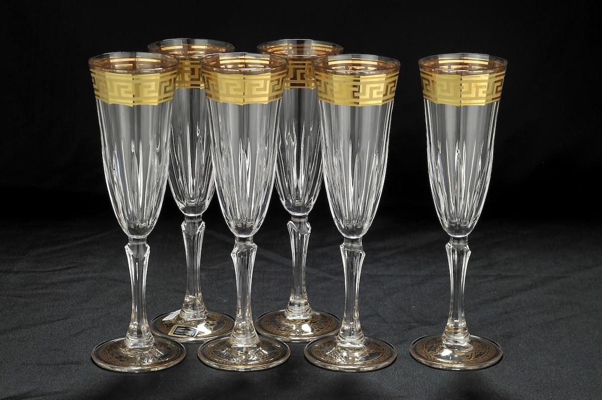 Набор из 6 бокалов для шампанского Versace Cre Art