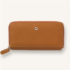 Кожаный дамский кошелек Graf von faber castell braun