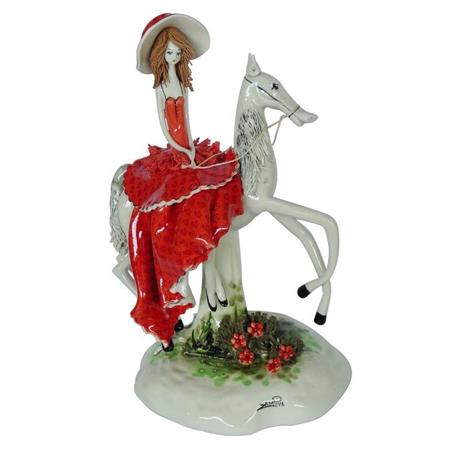 Статуэтка «Дама на лошади»