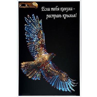 Картина Swarovski Сокол с надписью (Крылья Свободы)