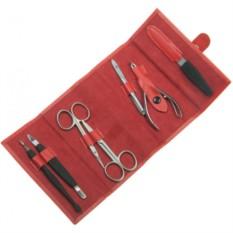 Маникюрный набор GD из 7 предметов (цвет — красный)