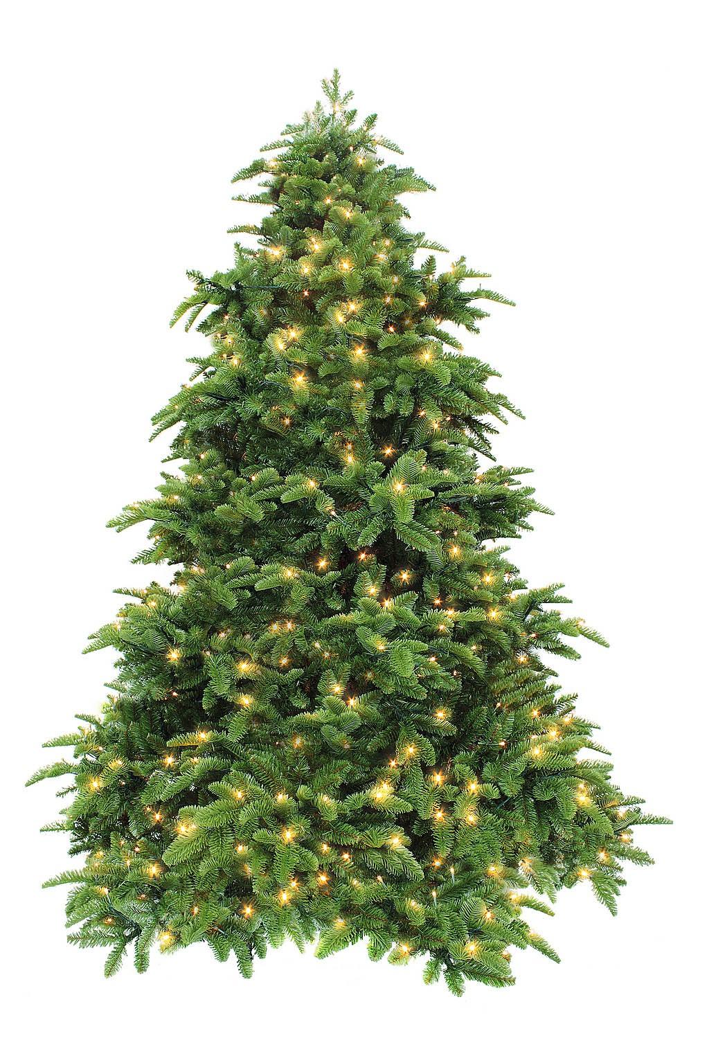 Ель Триумф Нормандия темно-зеленая с лампочками 230 см