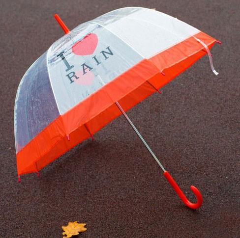 Зонт «I love rain» (красный)