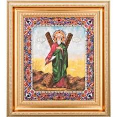 Икона с кристаллами Святой Андрей Первозванный (45х39 см)