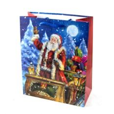 Новогодний подарочный пакет 26*33см