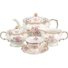 Чайный сервиз Золотистый на 6 персон
