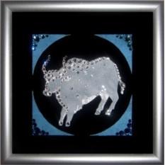 Картина Swarovski Год быка