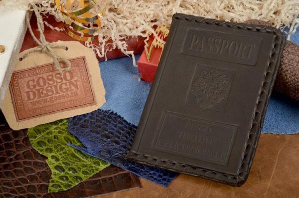 Коричневая кожаная обложка для паспорта M.Studio