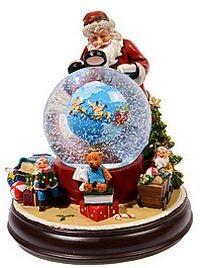 Миниатюра Санта с глобусом