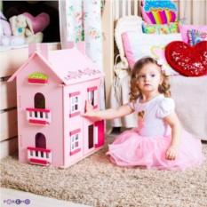 Большой домик из дерева для кукол Милана