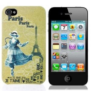 Чехол для iPhone 4/4S Кошка в Париже