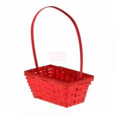 Плетёная красная корзина Бамбук
