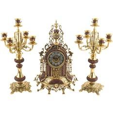 Интерьерные часы с подсвечниками «Герцог Альба»