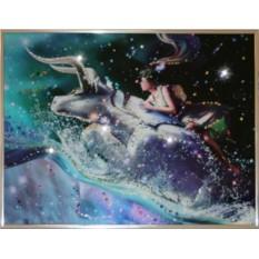Картина с кристаллами Сваровски Телец Кагая