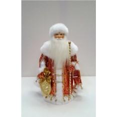 Игрушка Дед Мороз в красной шубе, высота 32 см