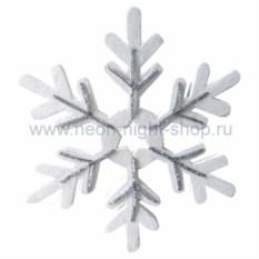 Елочная игрушка Сказочная снежинка серебряного цвета