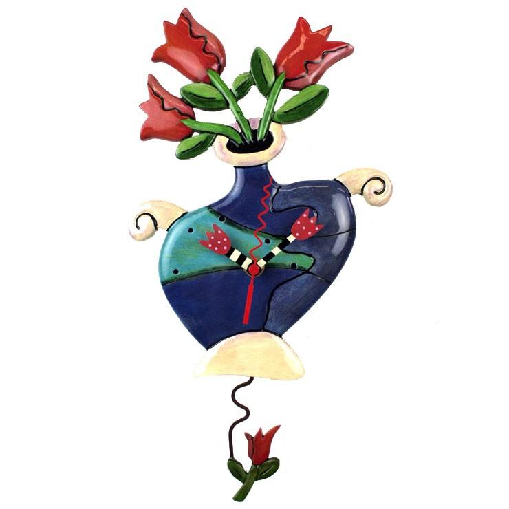 Часы Ваза с тюльпанами