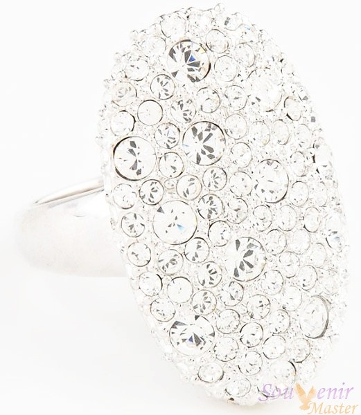 Кольцо с кристаллами Swarovski Анна