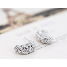 Серьги с австрийскими кристаллами «Снегопад»