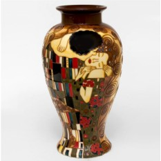 Фарфоровая ваза Климт. Поцелуй. Ручная работа