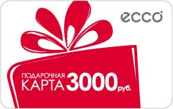 Подарочная карта (сертификат) ECCO 3000р.