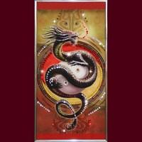 Картина с кристаллами Swarovski Китайский Дракон