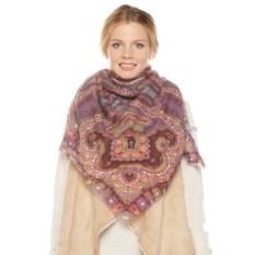 Женский платок Piero (принт: фиолетовый)