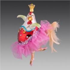Ёлочное украшение Курочка балерина
