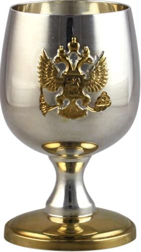 Серебряная рюмка с гербом России