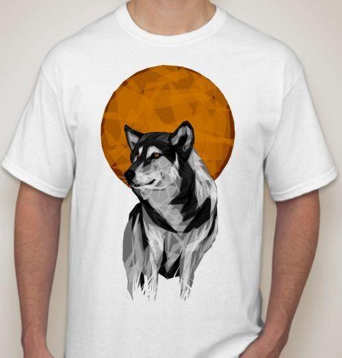 Футболка Волк при луне